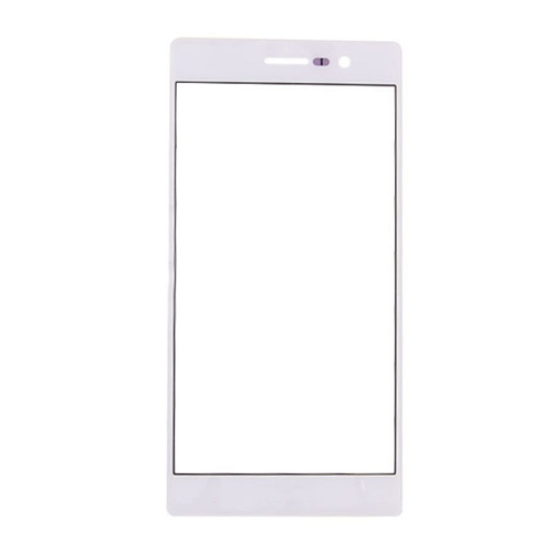For Huawei Ascend P7 Front Glass Lens White