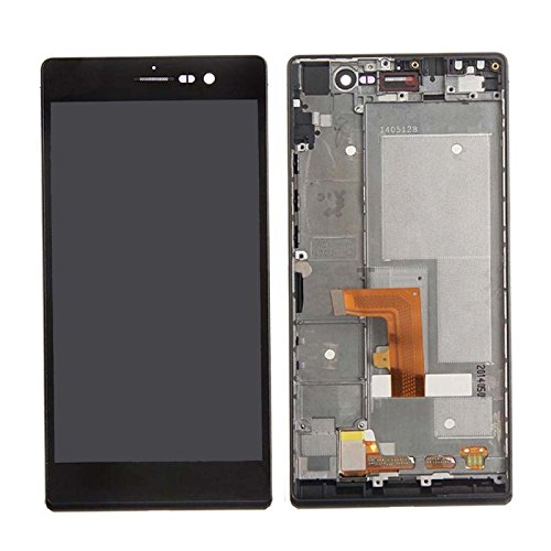 LCD with Frame for Huawei Ascend P7 Black