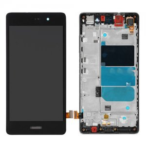 LCD with Frame for Huawei Ascend P8 Lite Black