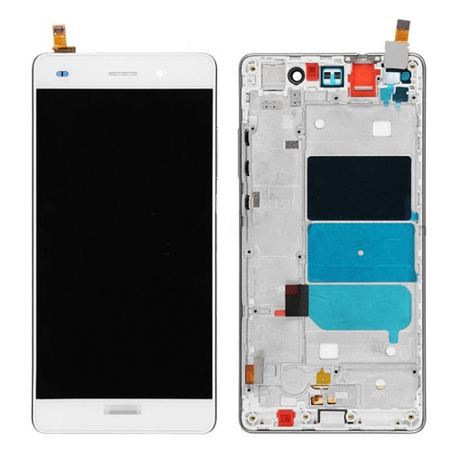 LCD with Frame for Huawei Ascend P8 Lite White