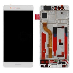 LCD with Frame for Huawei Ascend P9 White