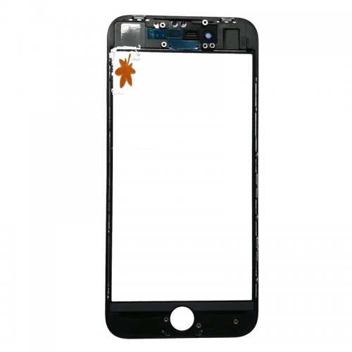 For iPhone 8 Front Glass with Frame and OCA Pre-installed Black Original Glass Cold Press