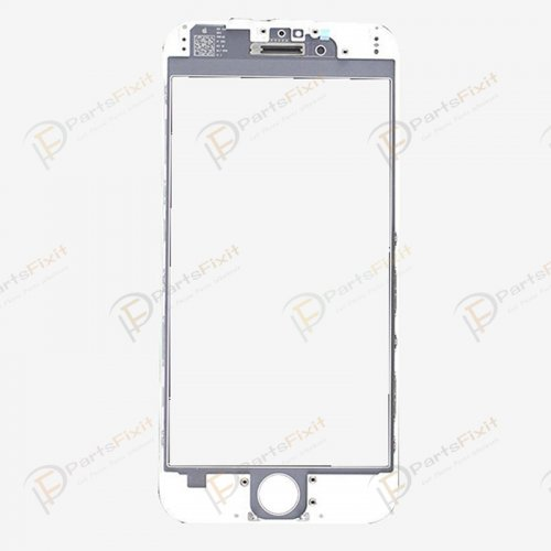 For iPhone 6 Front Glass with Frame and OCA Pre-installed White Original Glass Cold Press