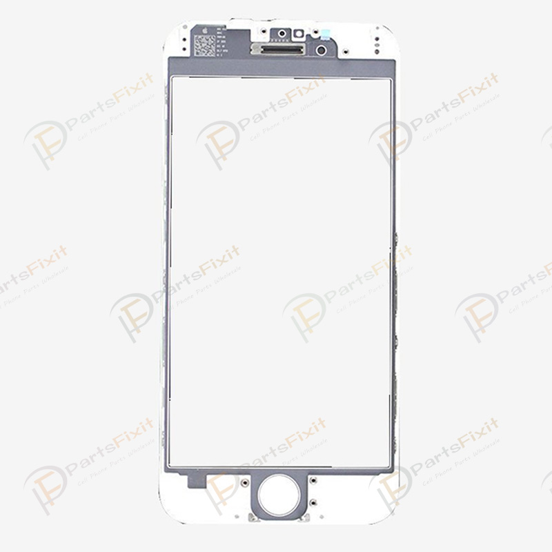 For iPhone 6 Front Glass with Frame White Original Glass and Cold Press