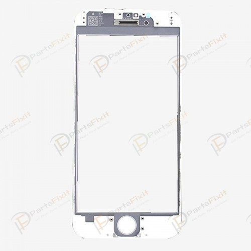 For iPhone 6 Plus Front Glass with Frame and OCA Pre-installed White Original Glass Cold Press
