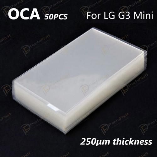 For LG G3 Mini OCA Optical Clear Adhesive 50pcs/pack