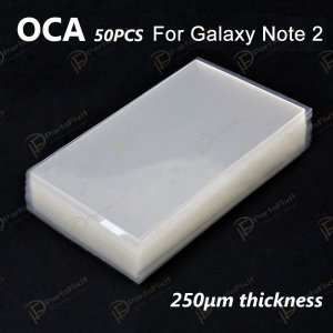 High Quality Mitsubishi OCA for Samsung Galaxy Note 2 LCD Digitizer 50pcs