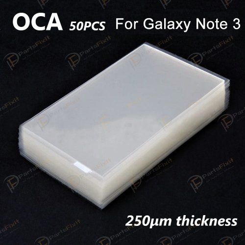 High Quality Mitsubishi OCA for Samsung Galaxy Note 3 LCD Digitizer 50pcs