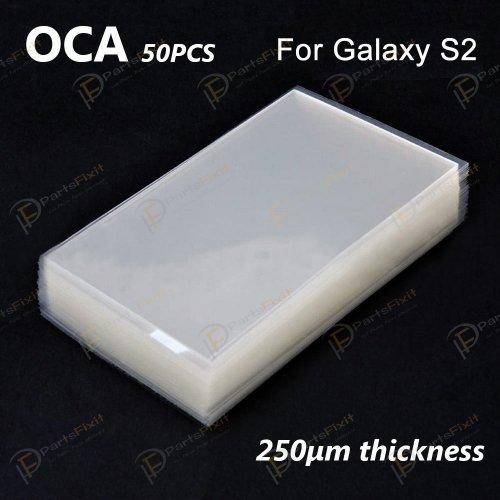 High Quality Mitsubishi OCA for Samsung Galaxy S2 LCD Digitizer 50pcs