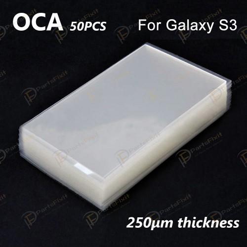 High Quality Mitsubishi OCA for Samsung Galaxy S3 LCD Digitizer 50pcs