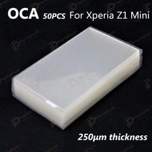 Mitsubishi OCA Optical Clear Sticker for Sony Xperia Z1 Compact 50pcs