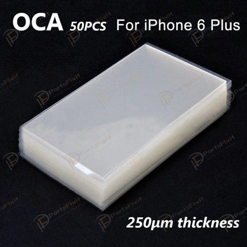 High Quality Mitsubishi  OCA Double-side Sticker for iPhone 6 Plus iP6s Plus iP7 Plus iP8 Plus LCD Digitizer 50pcs
