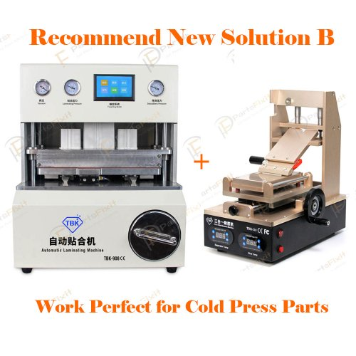 Recommend New Solution B for iPhone LCD Refurbish by Cold Press Materials
