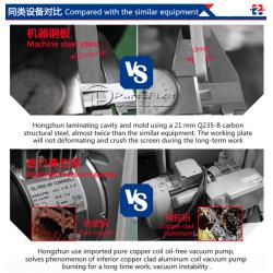 12 inch 4 in 1 LCD bubble remove Vacuum oca laminator Built-in vacuum pump and air compressor