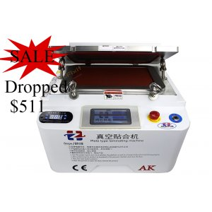 2 in 1 AK OCA Vacuum Laminating and Vaccum Bubble Remove Machine support 12 Inch