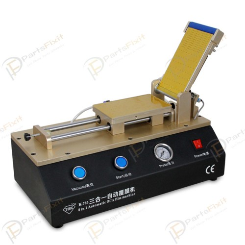 3 in 1 Automatic OCA Film Laminating Machine Built-in Vacuum Pump Air Compressor For Cell Phone LCD Refurbishment TBK-765