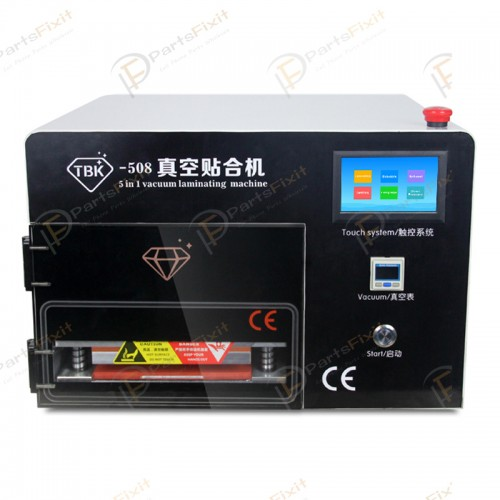OCA Laminating and Vacuum Bubble Removing Machine Built-in Vacuum Pump Air Compressor for LCD Refurbishing TBK-508