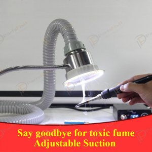 Extractor Fan Absorb Smoke Equipment with LED Light Fume Extractor