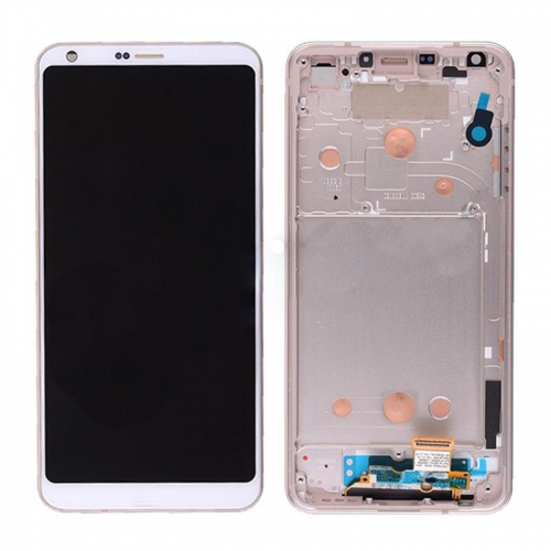 LCD Screen with Frame for LG G6 White Original