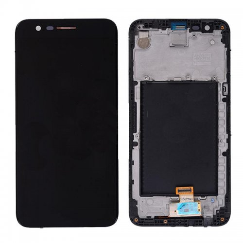 Screen Replacement With Frame for LG K10 (2017) Black Ori
