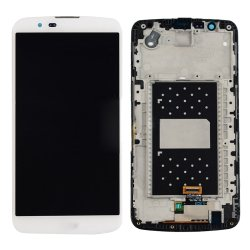 LCD Screen with Frame for LG K10 White Original
