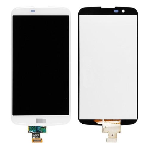 LCD with Digitizer Assembly for LG K10 White Origi...