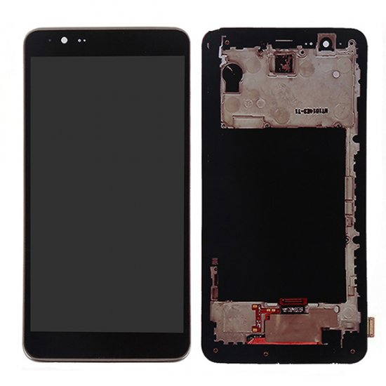 Screen Replacement With Frame for LG G Stylo 2 Black