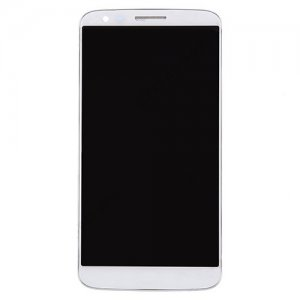 For LG G2 VS980 LCD with Frame and Verizon White Copy Glass