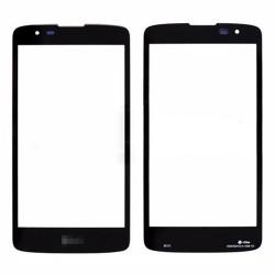 For LG K8 Front Glass Lens Black