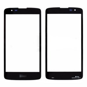 For LG K8 Front Glass Lens Black