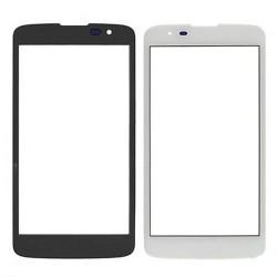 For LG K8 Front Glass Lens White