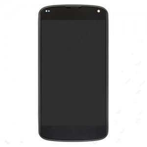 LCD Screen and Digitizer Touch Screen With Frame for LG Nexus 4 Black OEM