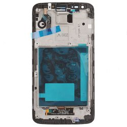 For LG G2 D802 LCD Screen Digitizer Assembly with Frame -White