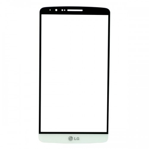 For LG G3 Front Glass Lens White