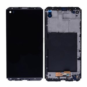 LCD Screen with Frame for LG V20 Black Original