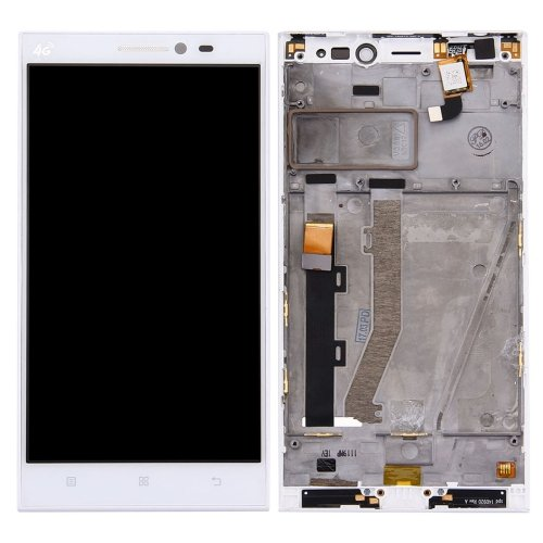 LCD Screen with Frame for Lenovo Vibe Z2 White