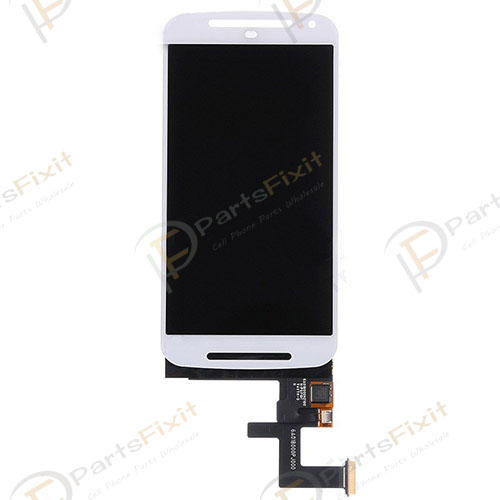 For Moto G2 LCD and Digitizer Assembly White
