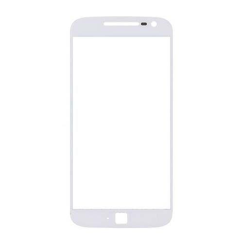 Front Glass Lens for Motorola G4 Plus White