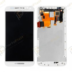 For Motorola Moto X Style XT1572 XT1570 XT1575 LCD with Frame White