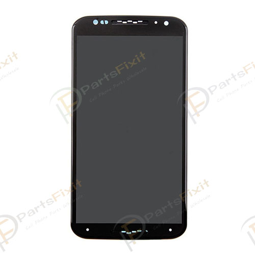 For Moto X2 LCD with Frame Assembly Black