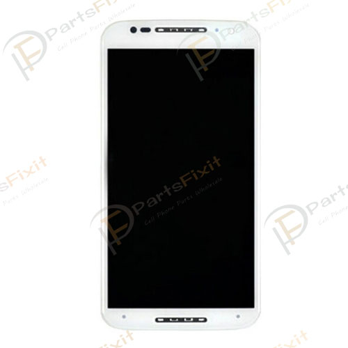 For Moto X2 LCD with Frame Assembly White