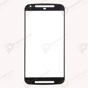 For Motorola Moto G2 XT1068 Front Glass Lens Black