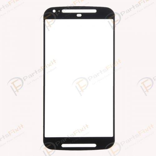 For Motorola Moto G2 XT1068 Front Glass Lens Black