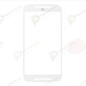 For Motorola Moto G2 XT1068 Front Glass Lens White