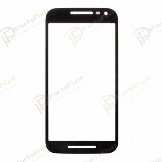 For Motorola Moto G3 Front Glass Lens Black