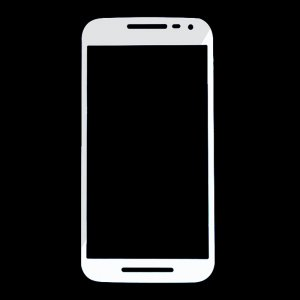 For Motorola Moto G3 Front Glass Lens White
