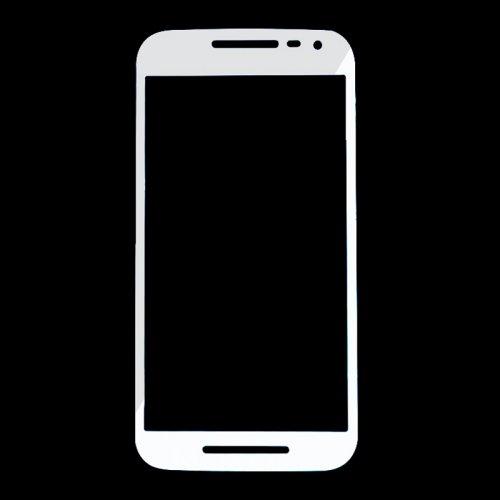 For Motorola Moto G3 Front Glass Lens White