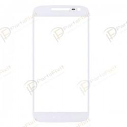 For Motorola Moto G4 Front Glass Lens White