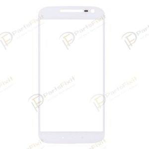 For Motorola Moto G4 Front Glass Lens White