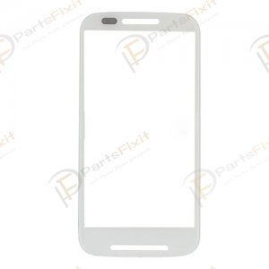 For Motorola Moto E XT1022 Front Glass Lens White